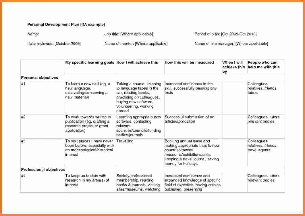 Individual Development Plan Template Lovely 9 Individual Development Plan Examples for It