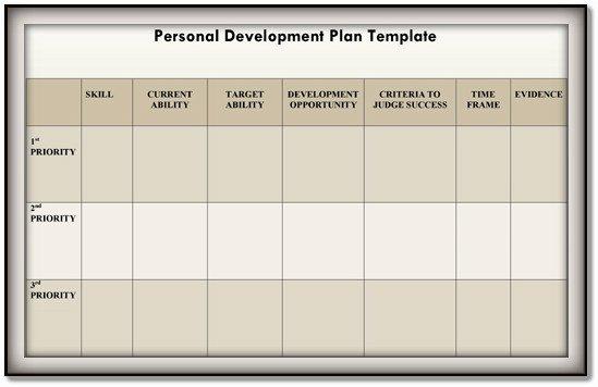 Individual Development Plan Template Unique Personal Development Plan Template – 9 Free Samples In Pdf