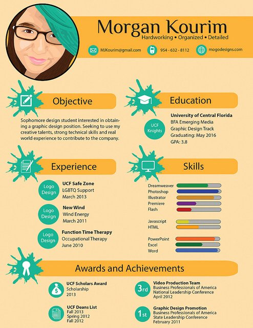 Infographic Resume Template Free Awesome 15 Amazing Infographic Resumes to Inspire You