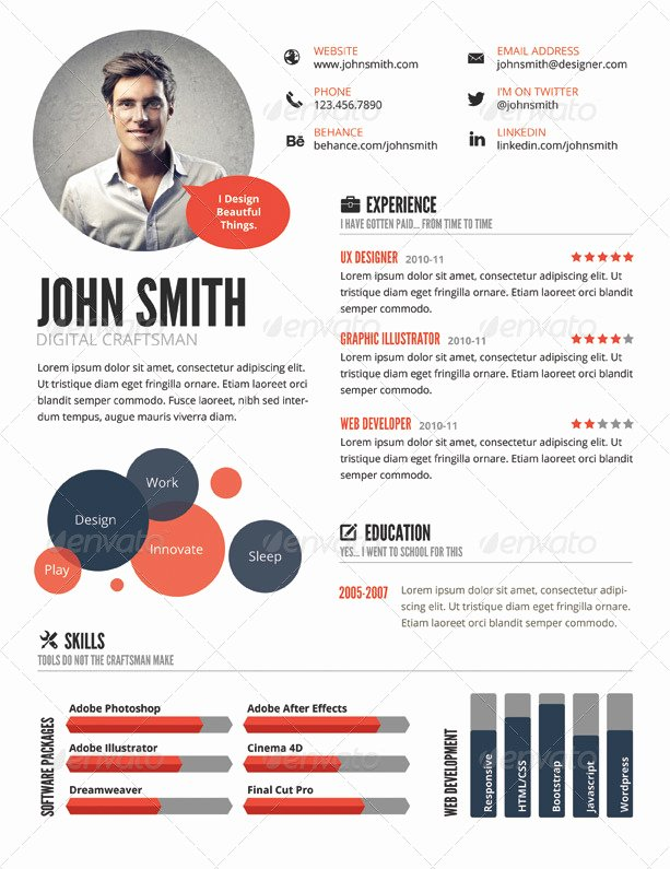 Infographic Resume Template Free Awesome top 5 Infographic Resume Templates