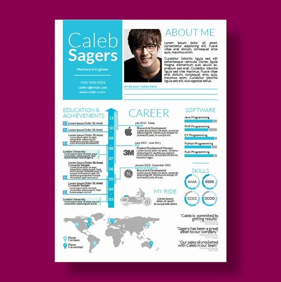 Infographic Resume Template Free Beautiful 33 Infographic Resume Templates Free Sample Example