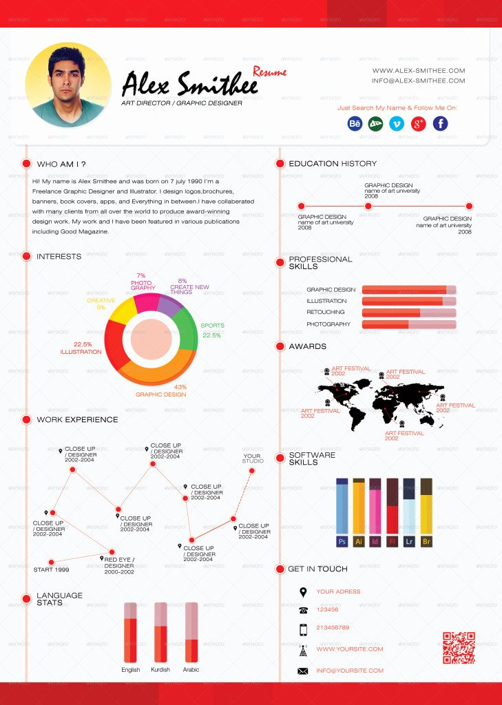 Infographic Resume Template Free Beautiful top 5 Infographic Resume Templates