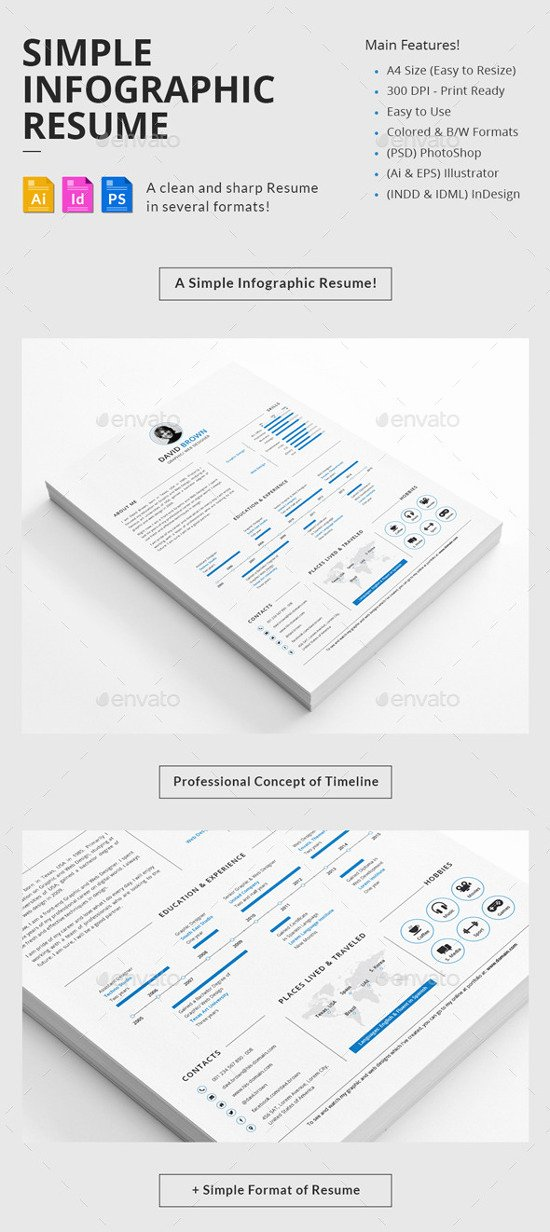 Infographic Resume Template Free Best Of Best Infographic Resume Templates for You