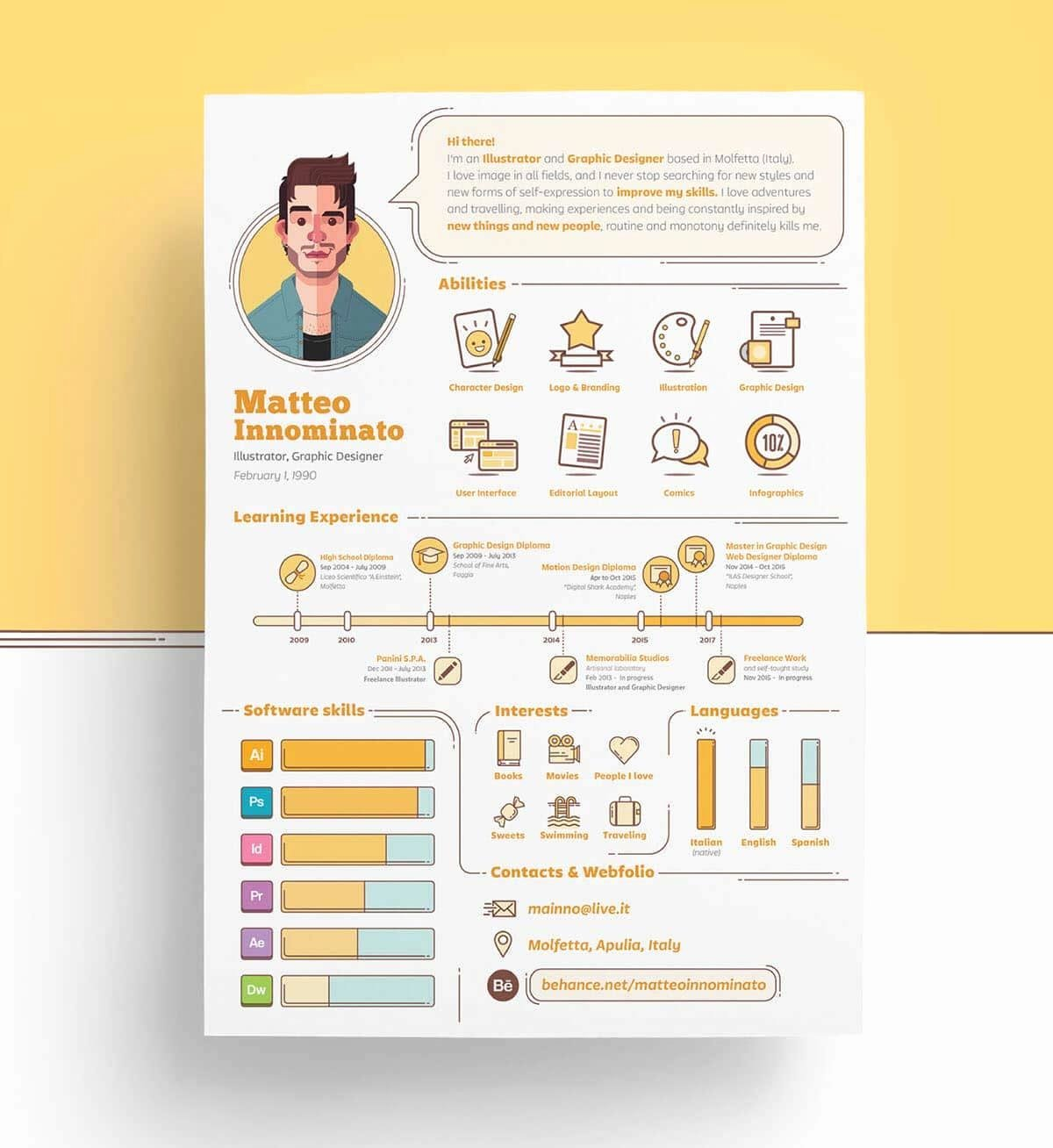 Infographic Resume Template Free Best Of Infographic Resume Templates [13 Examples to Download