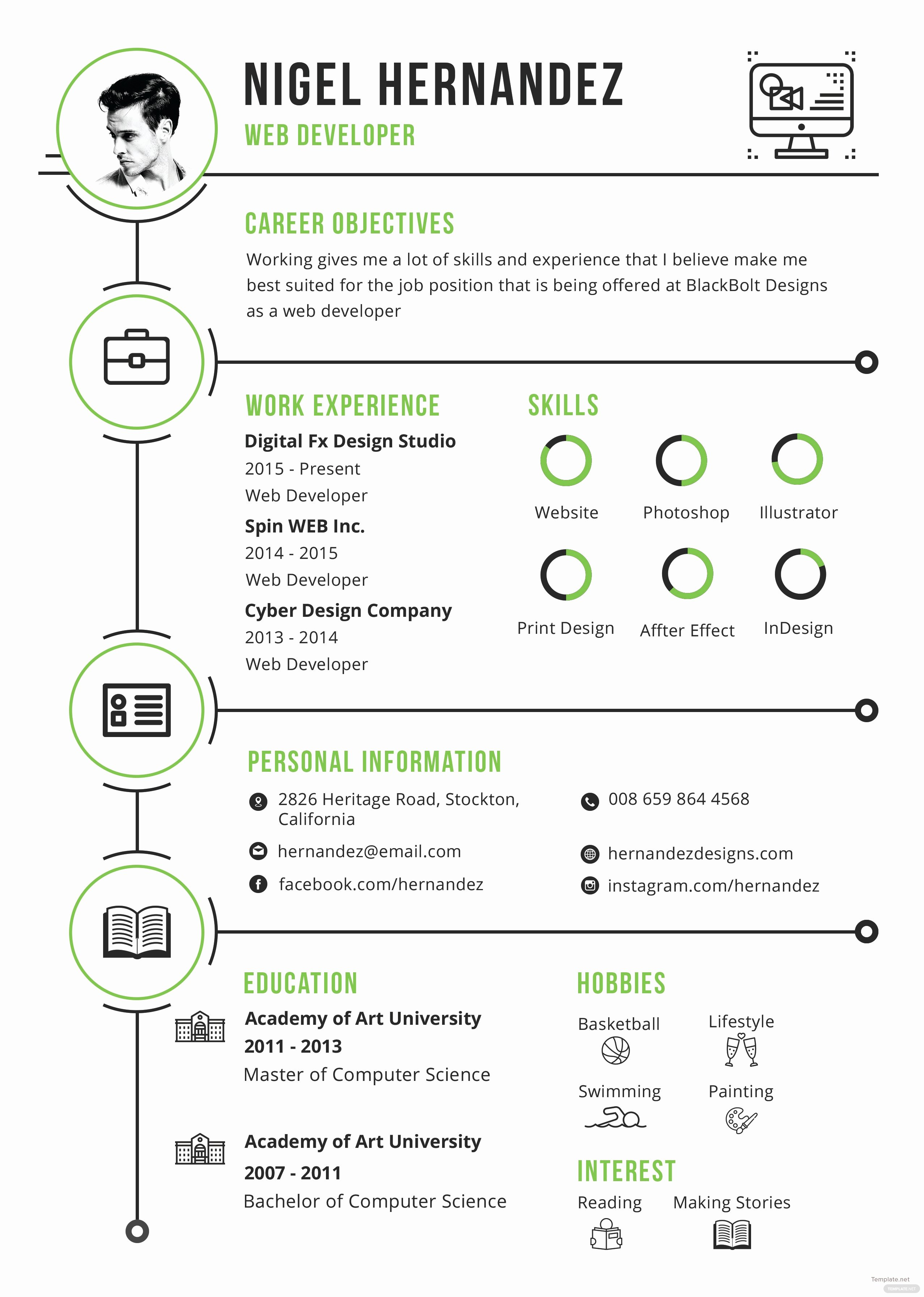 Infographic Resume Template Free Inspirational Free Minimalist Infographic Resume and Cv Template In