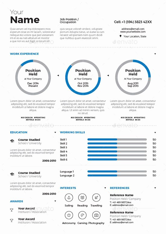 Infographic Resume Template Free Lovely 31 Infographic Resume Templates [download Free & Premium]