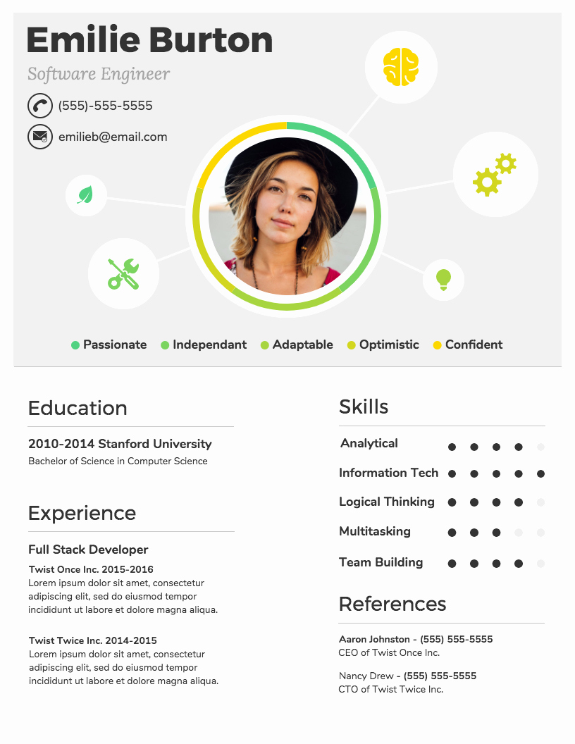 Infographic Resume Template Free Lovely Infographic Resume Template Venngage