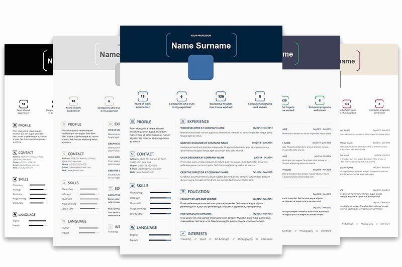 Infographic Resume Template Free Luxury top 5 Infographic Resume Templates