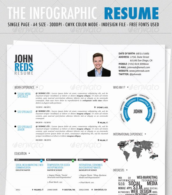 Infographic Resume Template Free Unique 17 Cool Infographic Design Templates Template