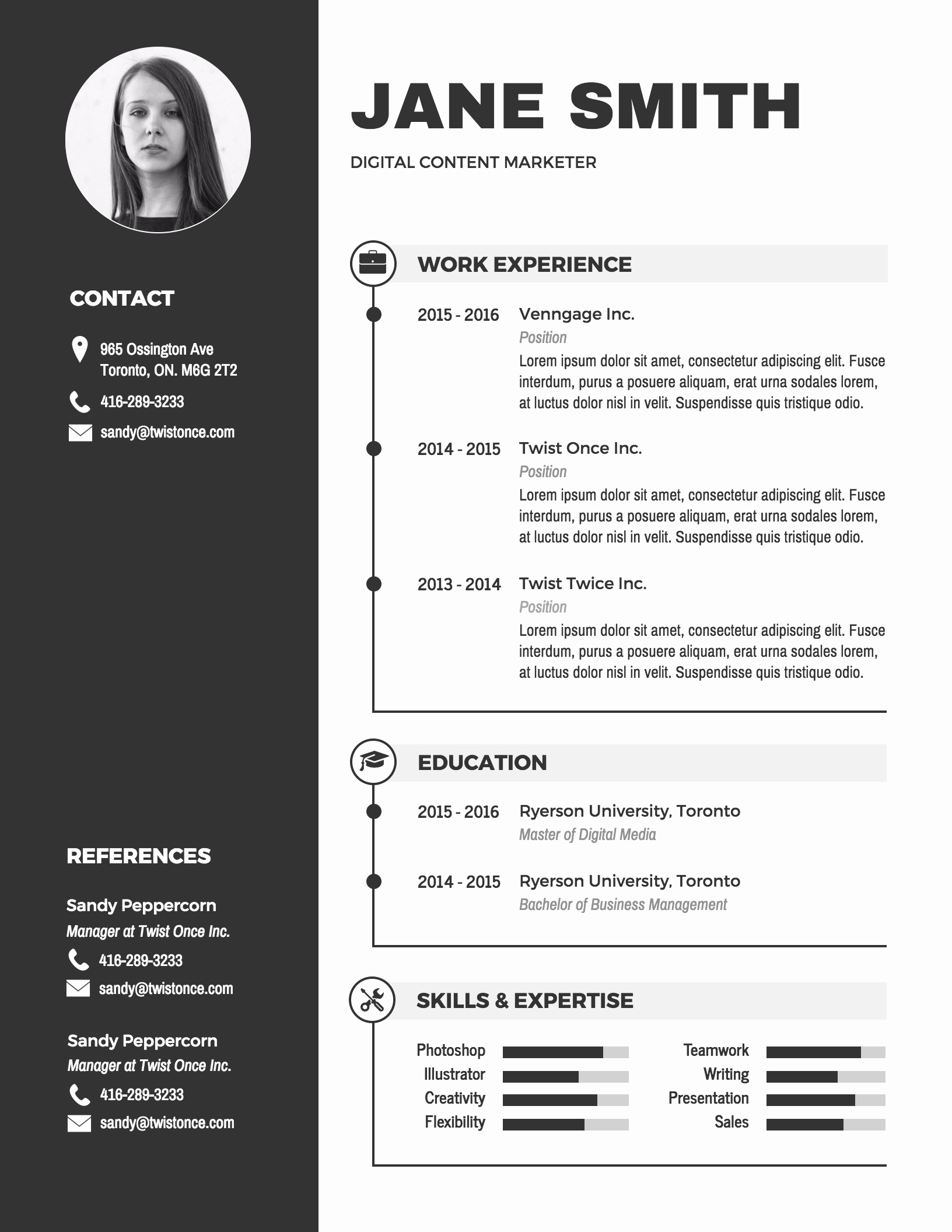 Infographic Resume Template Word Best Of Infographic Resume Template Venngage