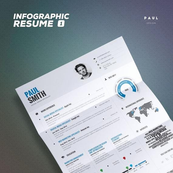 Infographic Resume Template Word Best Of Infographic Resume Vol 1 Word Indesign and by theresumecreator