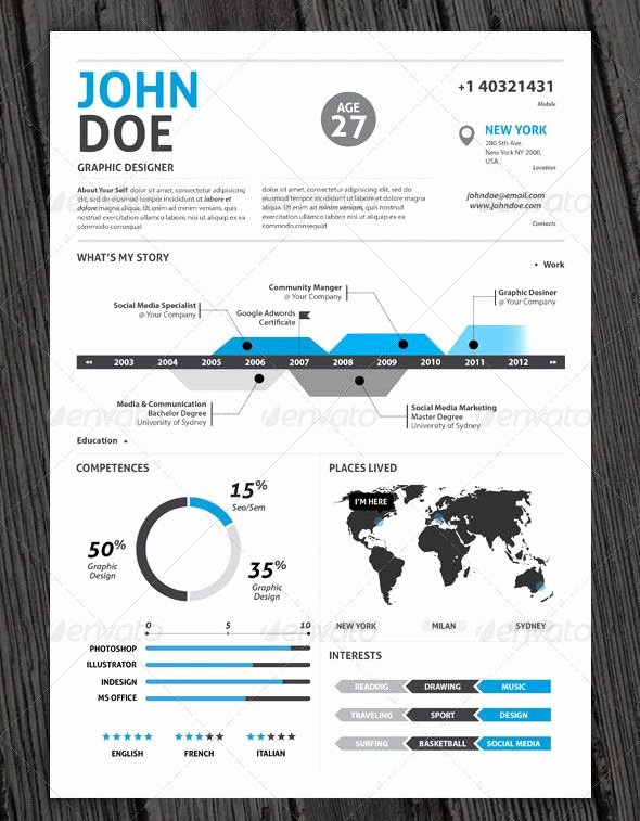 Infographic Resume Template Word Elegant I Design Infographic Resumes Check Out My Portfolio