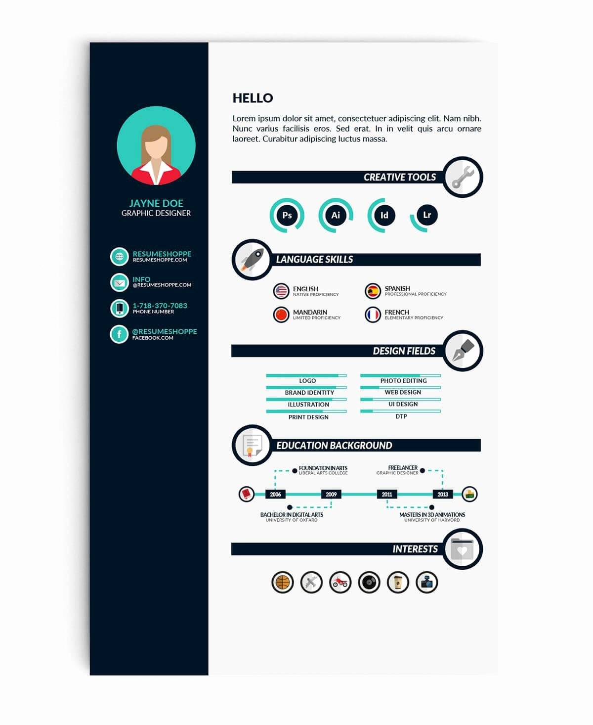 Infographic Resume Template Word Inspirational Student Resume Cv Templates 15 Examples to Download & Use now