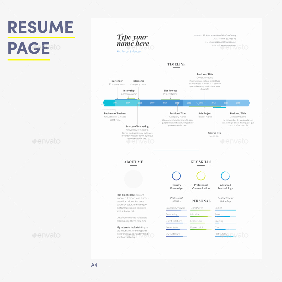 Infographic Resume Template Word Lovely Infographic Resume Made for Word by Wrdmx