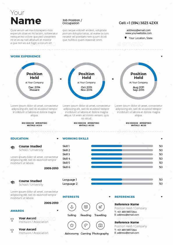 Infographic Resume Template Word New 20 Infographic Resume Template Free Download