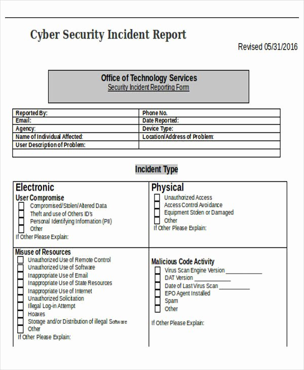 Information Security Incident Report Template Beautiful 28 Incident Report Templates In Word