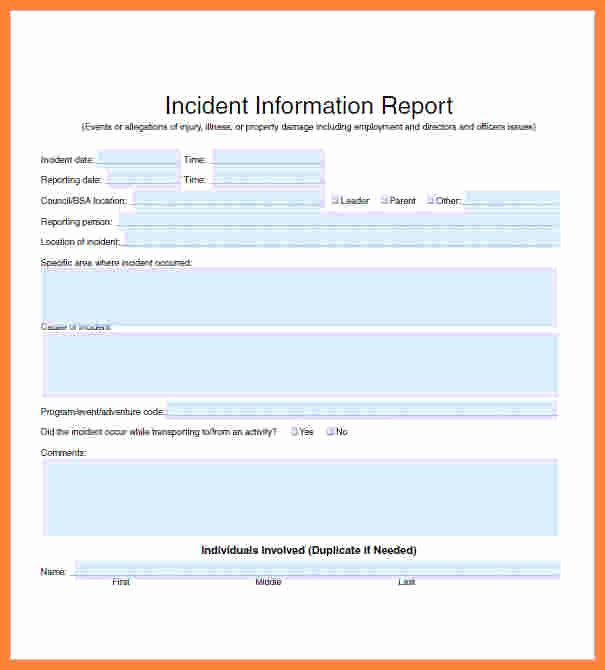 Information Security Incident Report Template Elegant 11 Information Security Incident Report Template