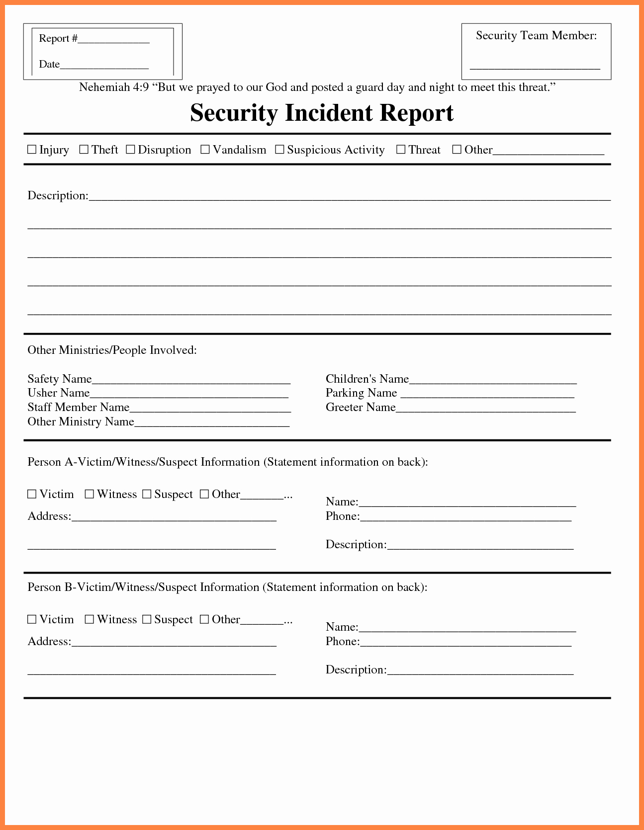 Information Security Incident Report Template Lovely 12 Information Technology Incident Report Template