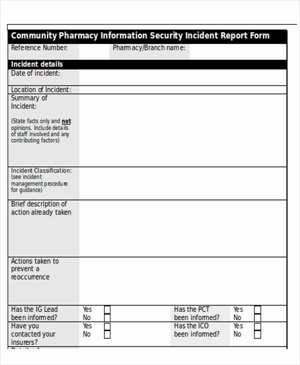 Information Security Incident Report Template New Security Incident Report Template Word Seven Various Ways