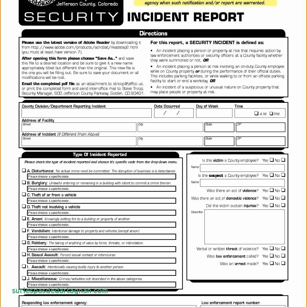Information Security Incident Report Template Unique Security Incident Report Template Information It Breach