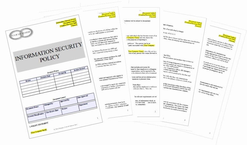 Information Security Policy Template Awesome Information Security Policy