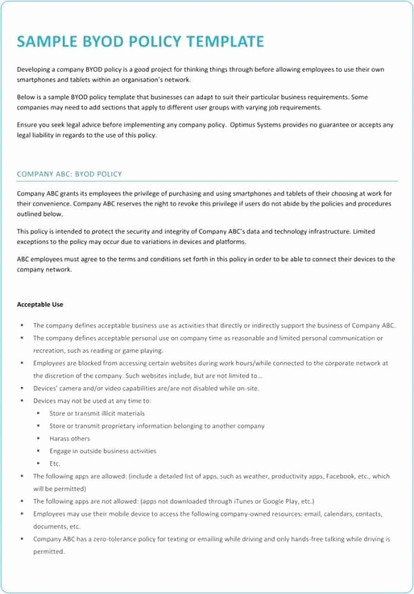 Information Security Policy Template Luxury 28 Best Information Security Policy Document Template