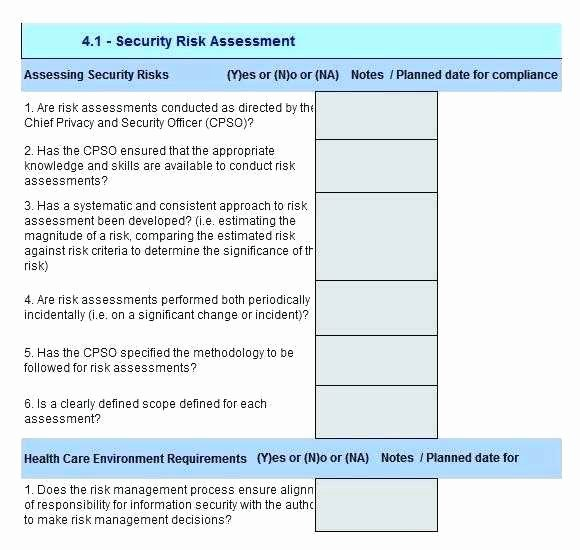 Information Security Risk assessment Template Fresh Vulnerability assessment Proposal Inspirational