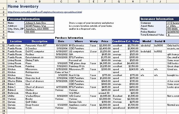 Information Technology Inventory Template Elegant Download A Free Home Inventory Spreadsheet