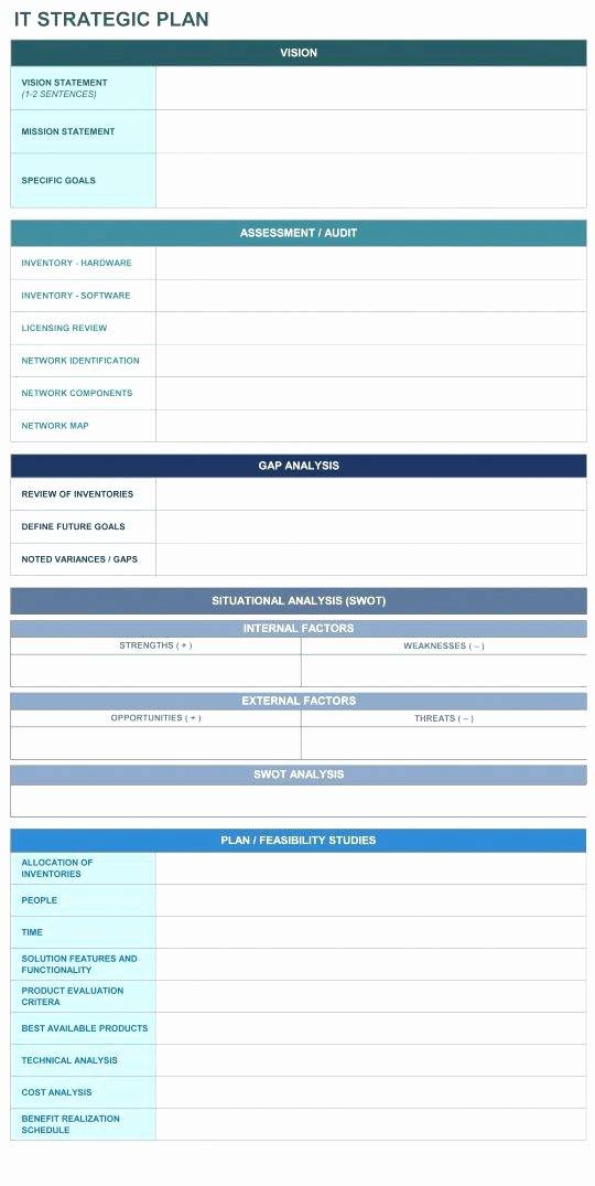 Information Technology Planning Template Fresh Hospital Information Technology Strategic Plan Example