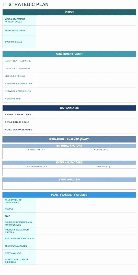 Information Technology Planning Template New Strategic Plan Example Template – Cafedesignfo