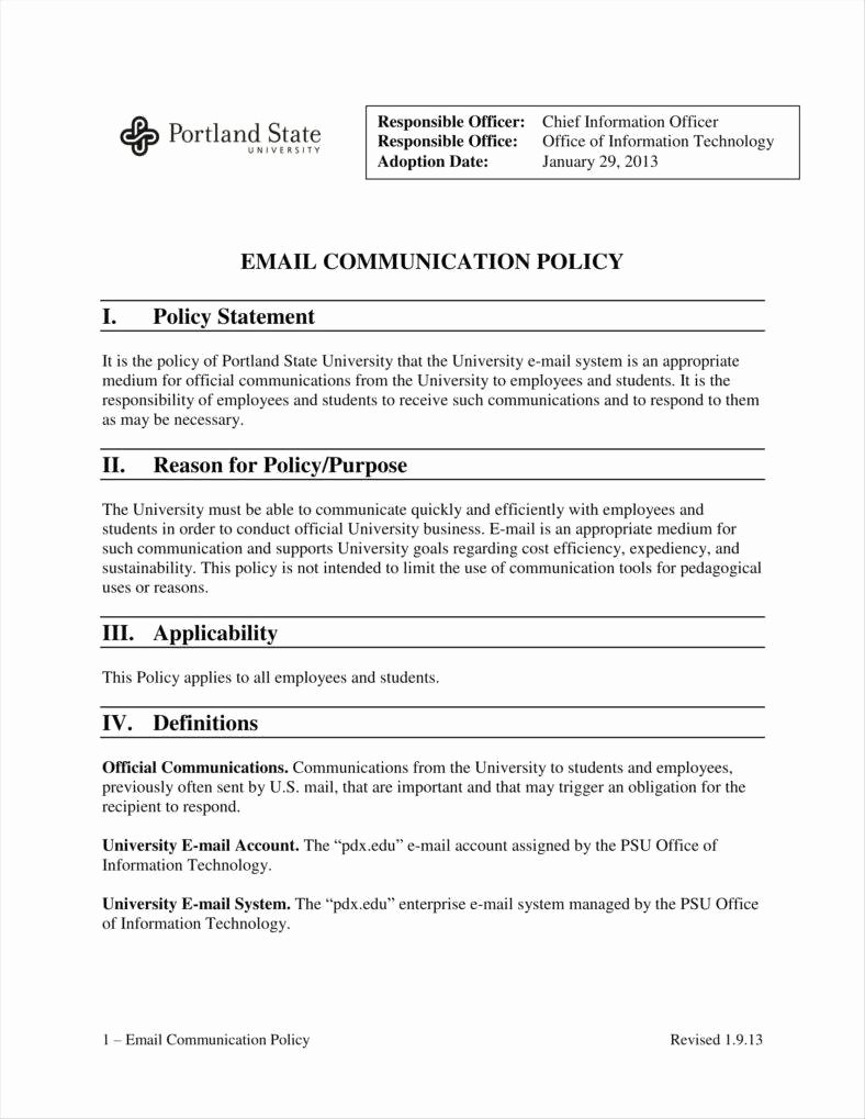 Information Technology Policy Template Fresh 9 It Policy Templates Free Pdf Doc format Download