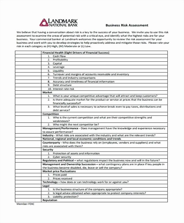 Information Technology Risk assessment Template Awesome Information Technology Audit Risk assessment Template
