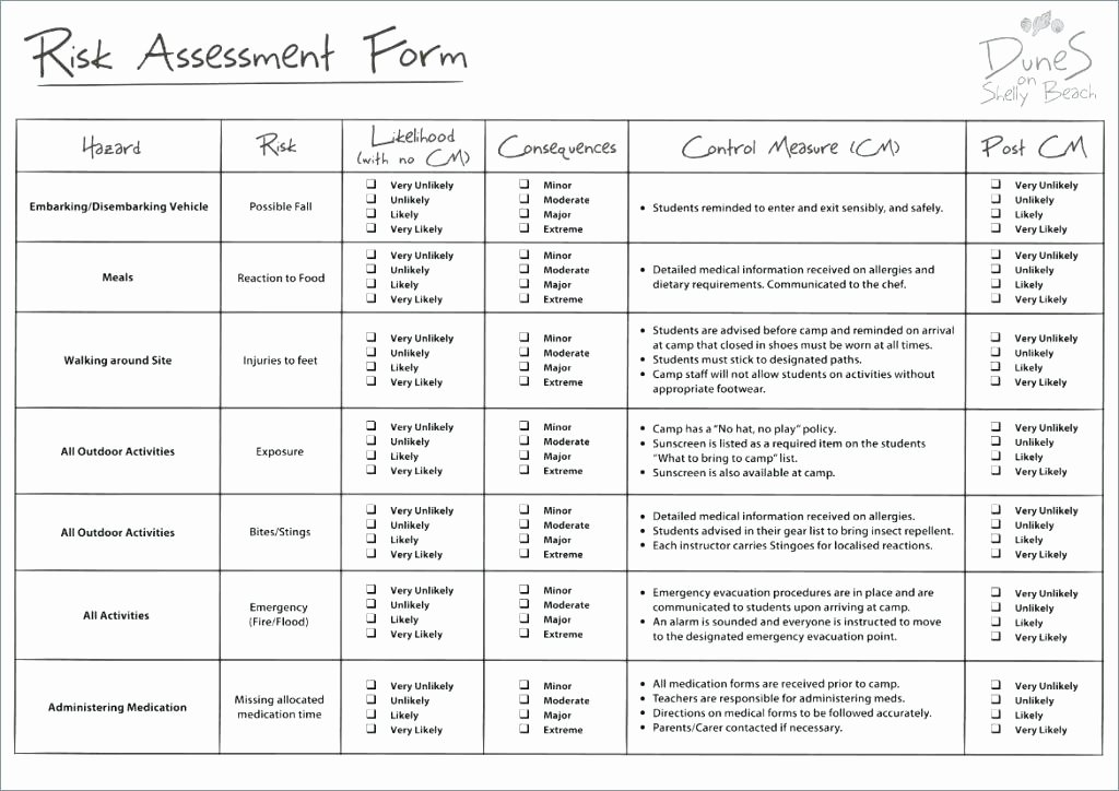 Information Technology Risk assessment Template Best Of Template Information Technology Risk assessment Template