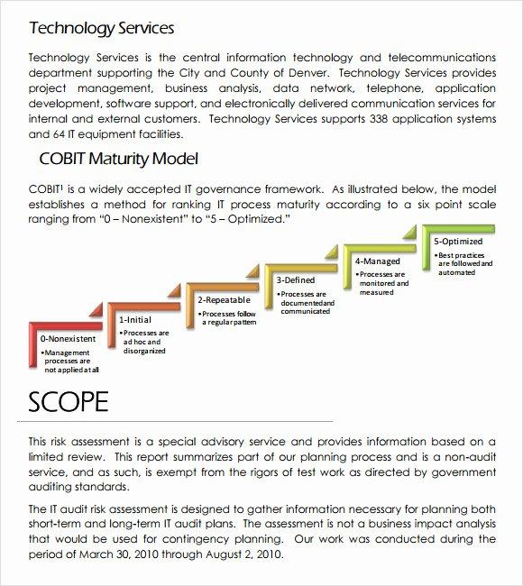 Information Technology Risk assessment Template Fresh Sample It Risk assessment Template 12 Free Documents In
