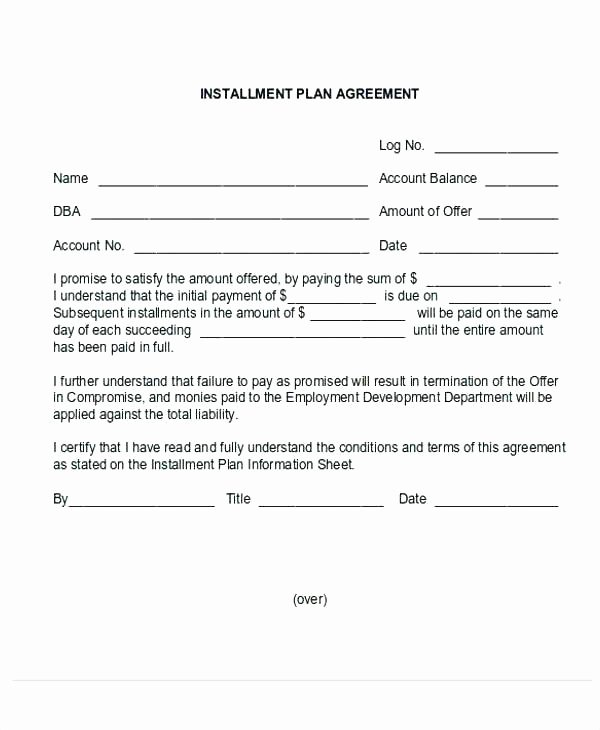 Installment Payment Agreement Template Beautiful 15 Sample Payment Agreements