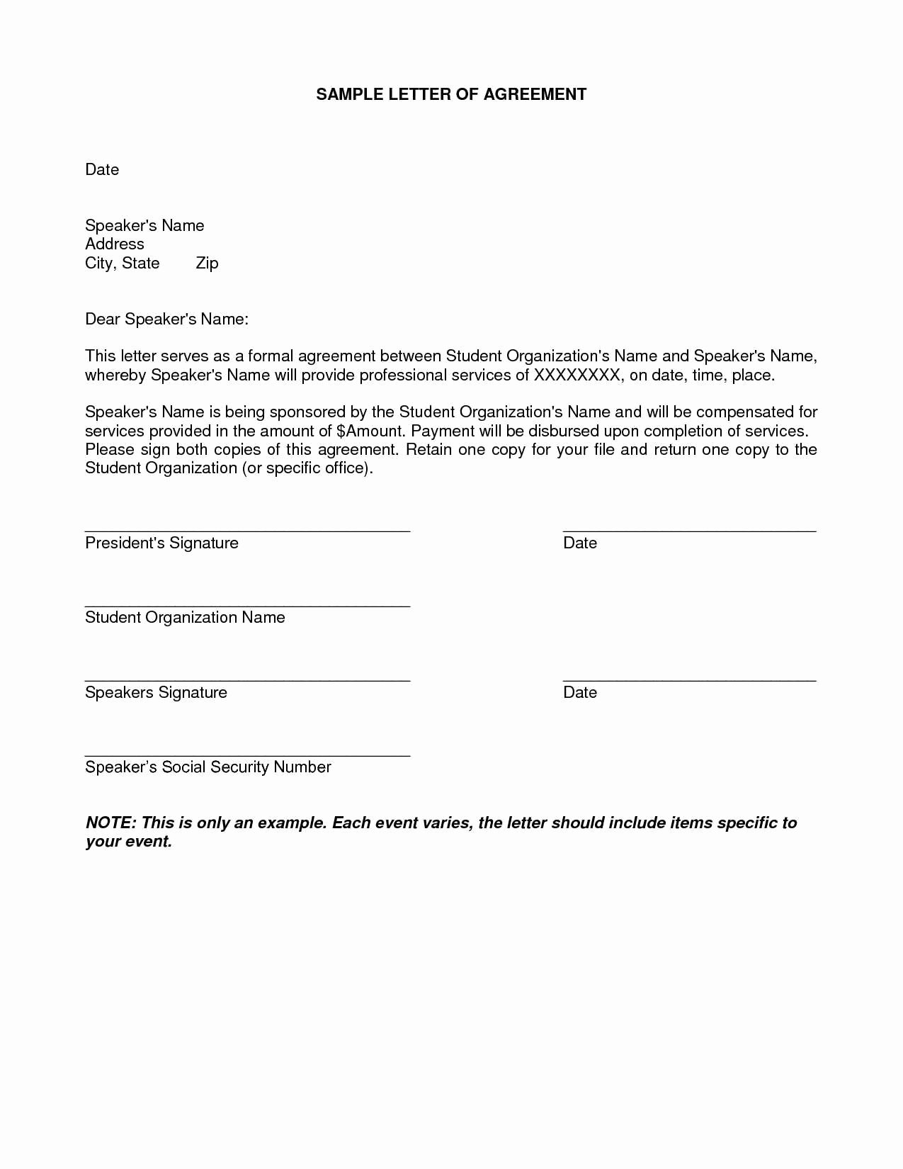 Installment Payment Agreement Template Fresh Installment Payment Agreement Letter Template Examples