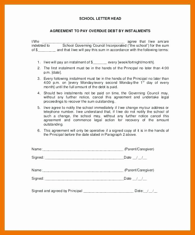 Installment Payment Agreement Template New 78 New Installment Payment Agreement Template