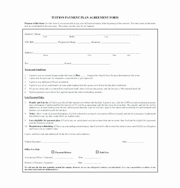 Installment Payment Contract Template Beautiful Installment Agreement form Payment format Advance Sale