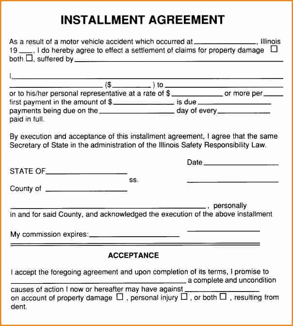 Installment Payment Contract Template Best Of 6 Installment Payment Contract Template