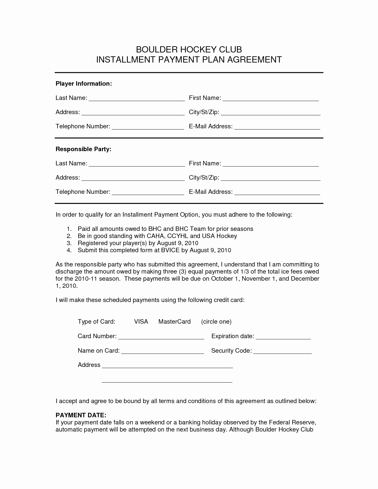 Installment Payment Contract Template Elegant 10 Best Of Payment Plan Agreement form Editable