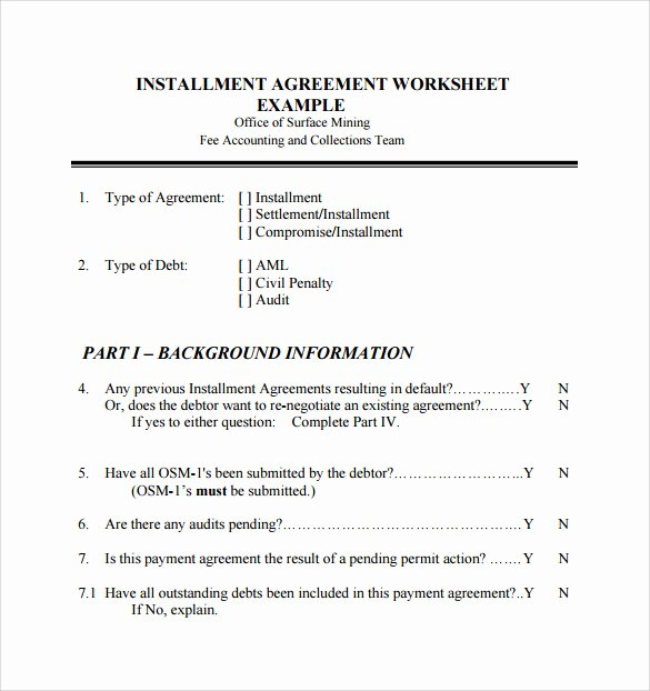 Installment Payment Contract Template Elegant 7 Sample Installment Agreements