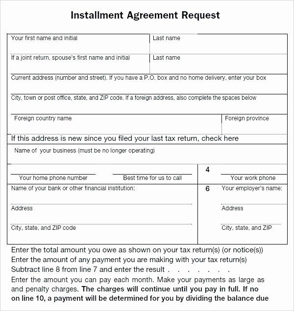 Installment Payment Contract Template Elegant Installment Agreement form Payment format Advance Sale