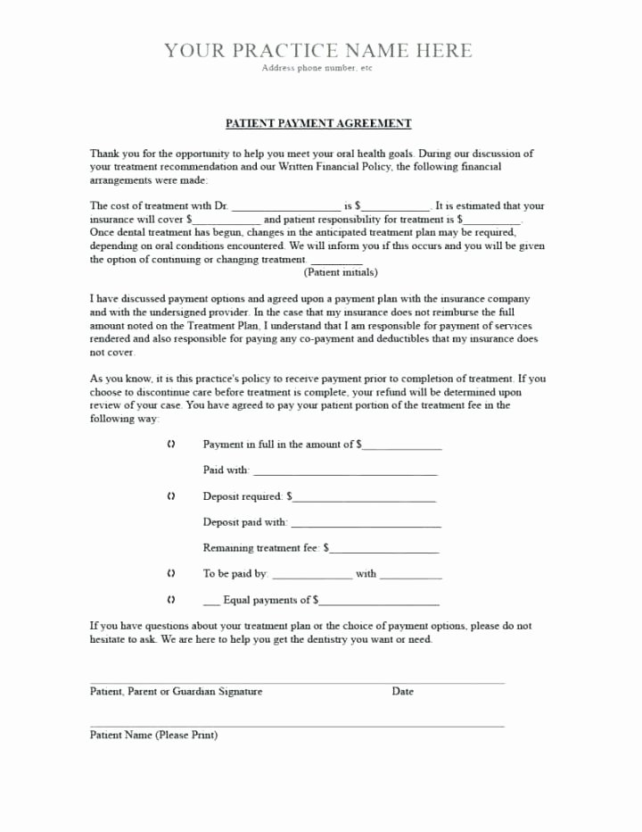 Installment Payment Contract Template Lovely Installment Payment Agreement Letter – Template Gbooks