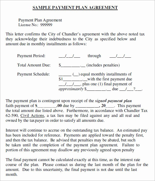 Installment Payment Contract Template Unique Installment Agreement 5 Free Pdf Download