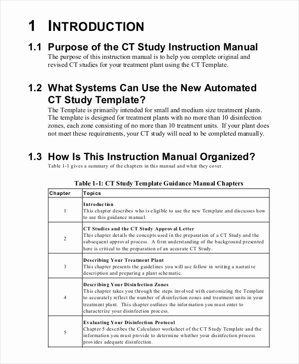 Instruction Manual Template Word Fresh Instruction Manual Template 10 Free Word Pdf Documents
