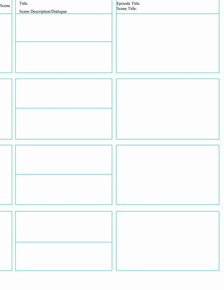 Instructional Design Storyboard Template Fresh 12 Best Storyboard Templates Images On Pinterest