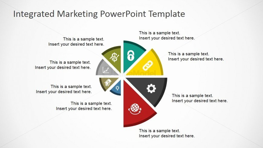 Integrated Marketing Communications Plan Template Elegant Flat Spyral Chart for Powerpoint Slidemodel