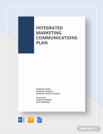 Integrated Marketing Communications Plan Template Inspirational Munication Plan Template 9 Word Pdf Documents
