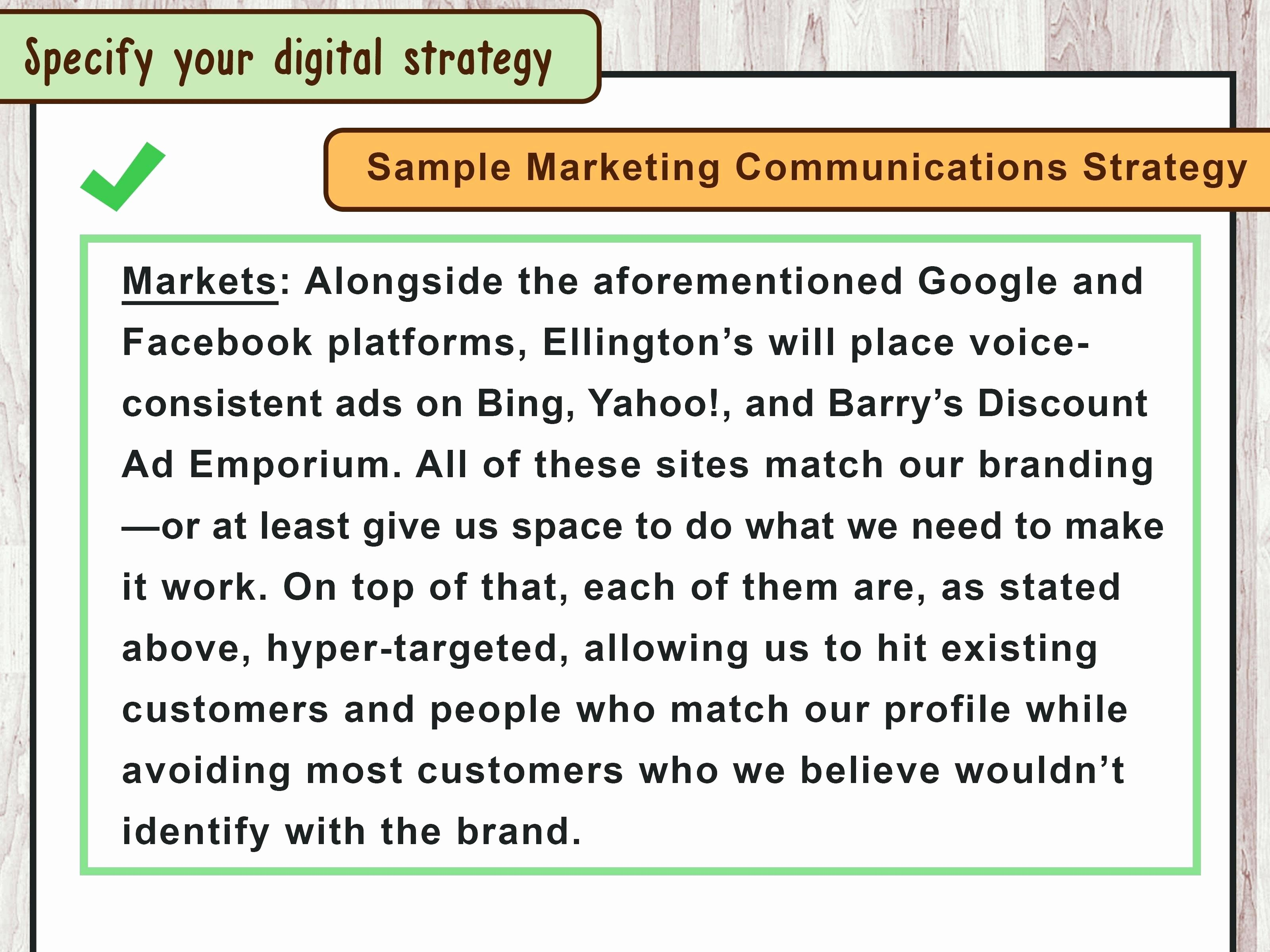 Integrated Marketing Communications Plan Template New Session Plan Template