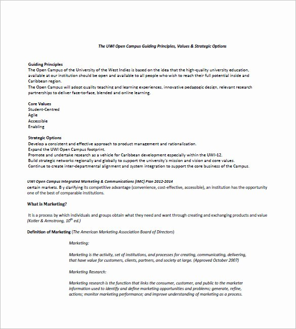 Integrated Marketing Plan Template Beautiful 10 Integrated Marketing Munication Plan Templates